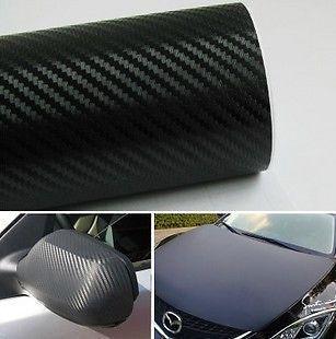 4D PVC Shiny Glossy Carbon Fiber Car Vinyl Foil Film Wrap Roll Sticker Decal Hot