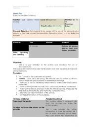 English Worksheet Lesson Plan Based On The Direct Method - Direct lesson plan template