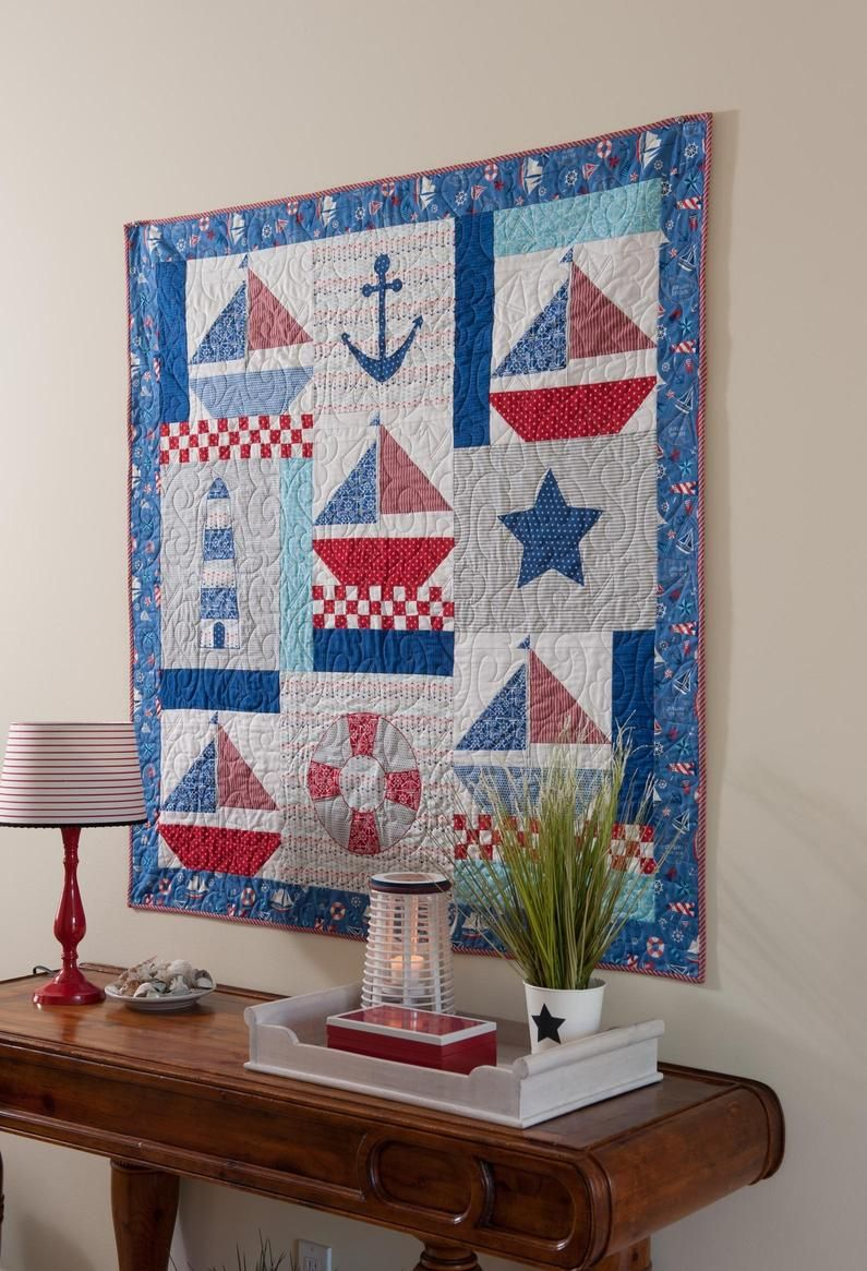 Decorating Idea Nautical Quilt As Wall Hanging
