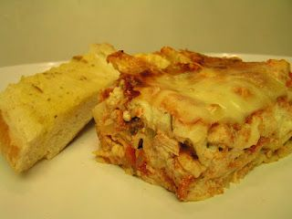 Easy Three Cheese Chicken Lasagna