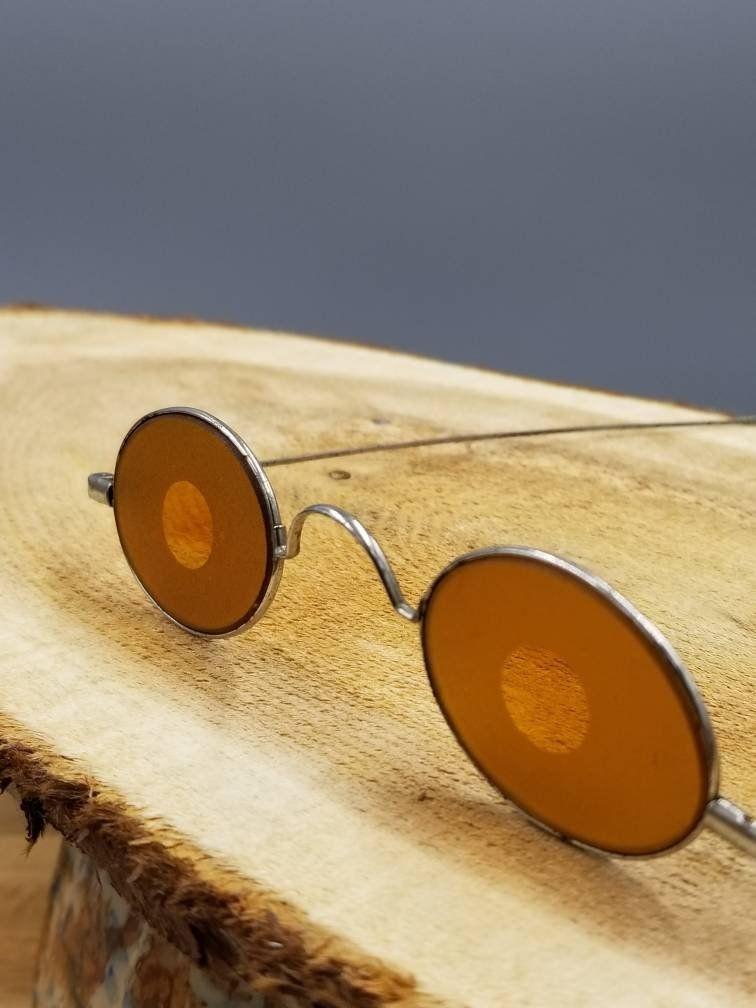 eb60f82d03 Antique Civil War Sharp Shooter Frosted Glasses | Civil War Collectibles |  Shooting Glasses | Civil War Reenactment | Antique Lunettes by Rue88Market  on ...