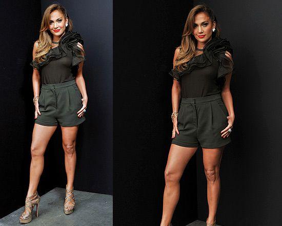Jennifer Lopez wearing Valentino Ruffle Top on American idol.. Love her style