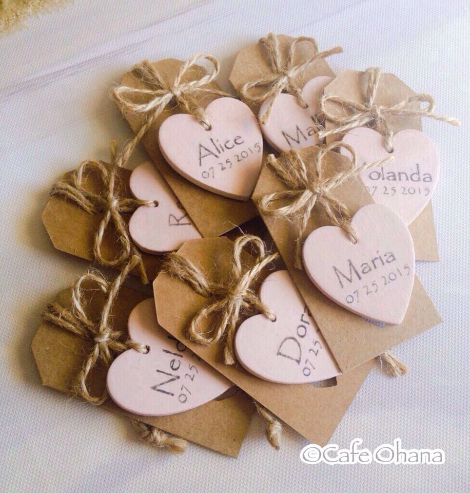 Little Hearts Custom Wedding Favours Wooden Hearts Wedding Party Favors