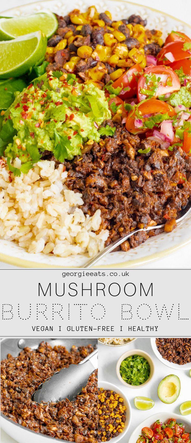 Spicy mushroom taco meat, zesty salsa, smoky black beans & corn and creamy mashe…