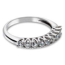 0.59 CTW Diamond Wedding Band in 14KT White Gold.