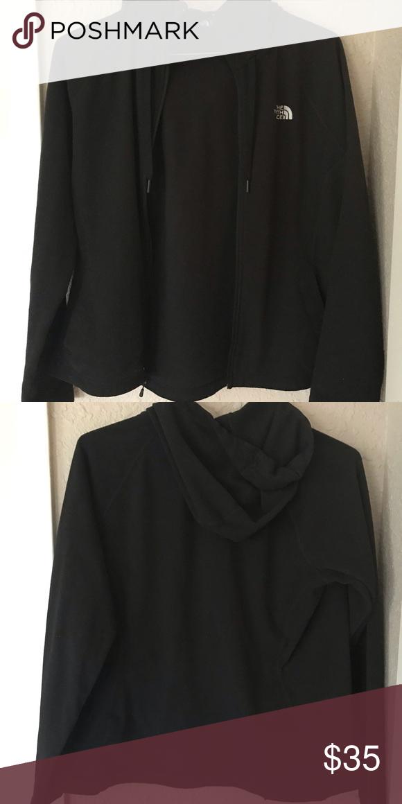 4daacf513 The North Face fleece Fleece full zip with hood. Women's size L but ...