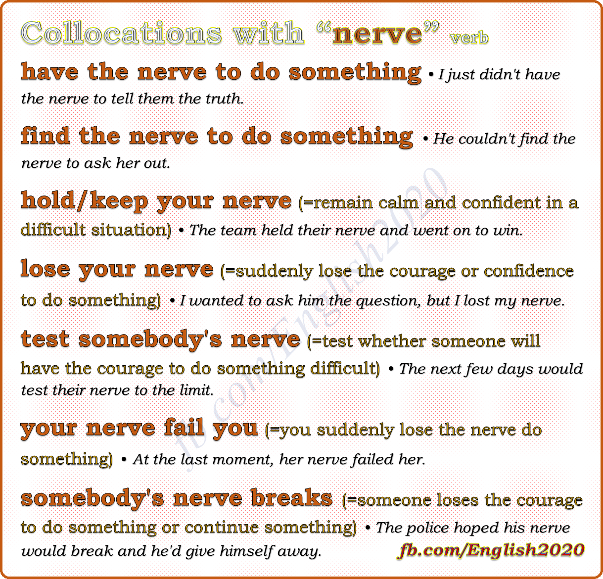 Collocations With Nerve