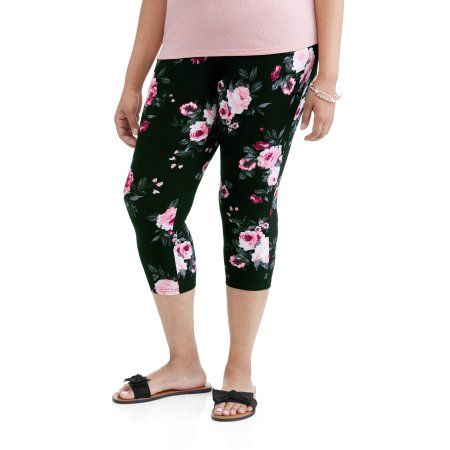 327897c3af3 Plus Size Terra   Sky Women s Plus Printed Essential Capri Knit Legging