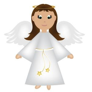 Angel beautiful. Wearing shoes clip art