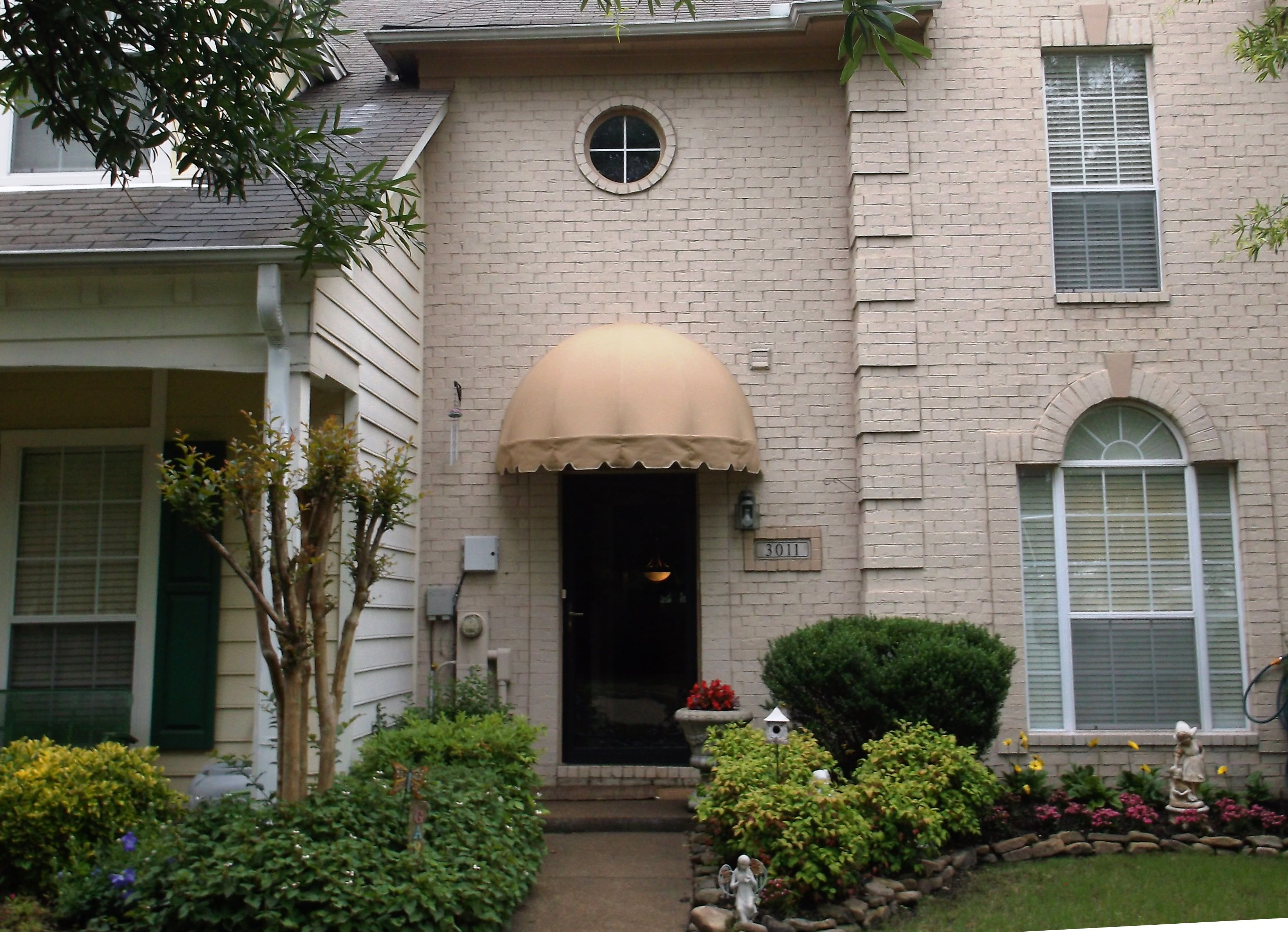 A Dome Awning Over Your Door Is Great Added Element To