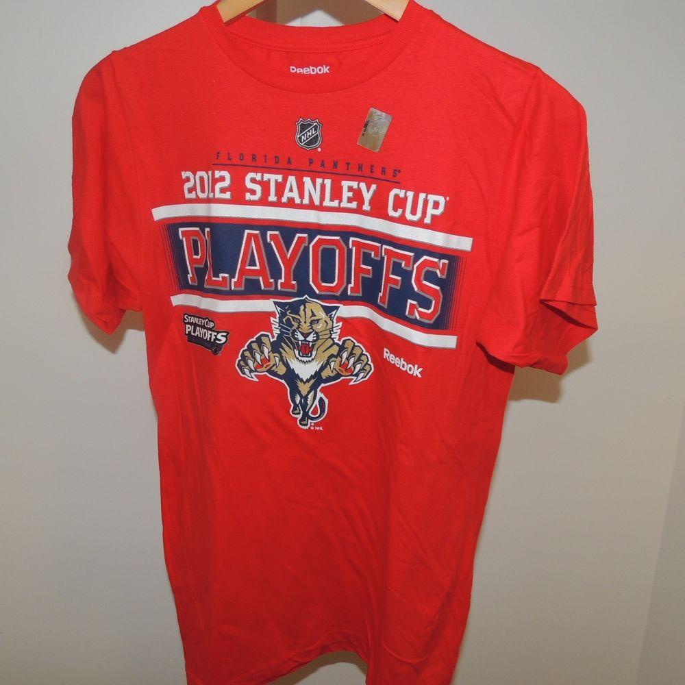 NHL Reebok Florida Panthers Stanley Cup Playoffs Hockey Shirt New Sm   Reebok  FloridaPanthers 16a6edd9b