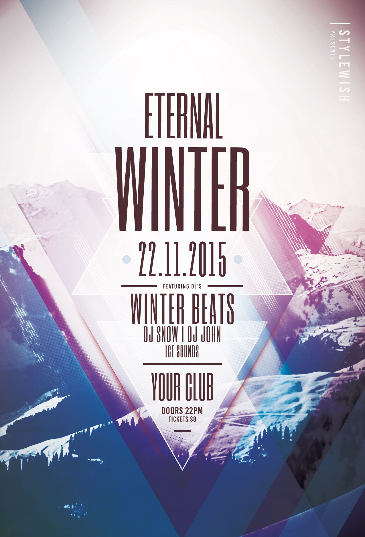 Eternal Winter Flyer Template Download Psd File   Party Poster