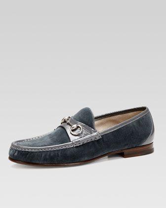 152a568589a Roos 1953 Velvet Horsebit Loafer