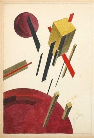 El Lissitzky, Pronoun 5A, n.d. | Suprematism ...