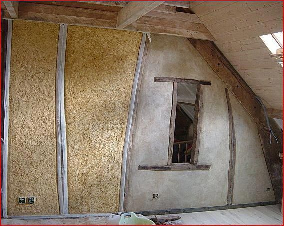 Good House · Light Straw Insulation In Half Round Frames ...