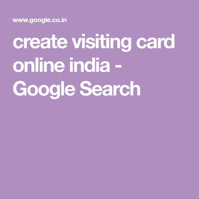 Create visiting card online india google search visiting card create visiting card online india google search reheart Images