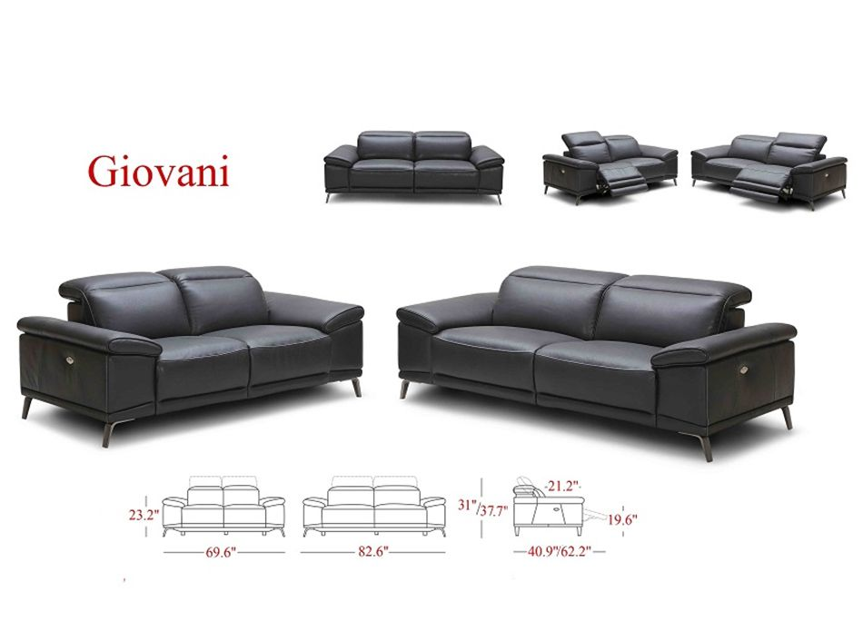 Giovani Modern Power Recliner Sofa By J M Furniture Power Reclining Sofa Reclining Sofa Sofa