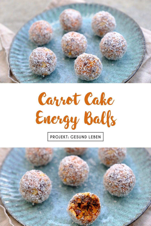 Gesunde Carrot Cake Energy Balls