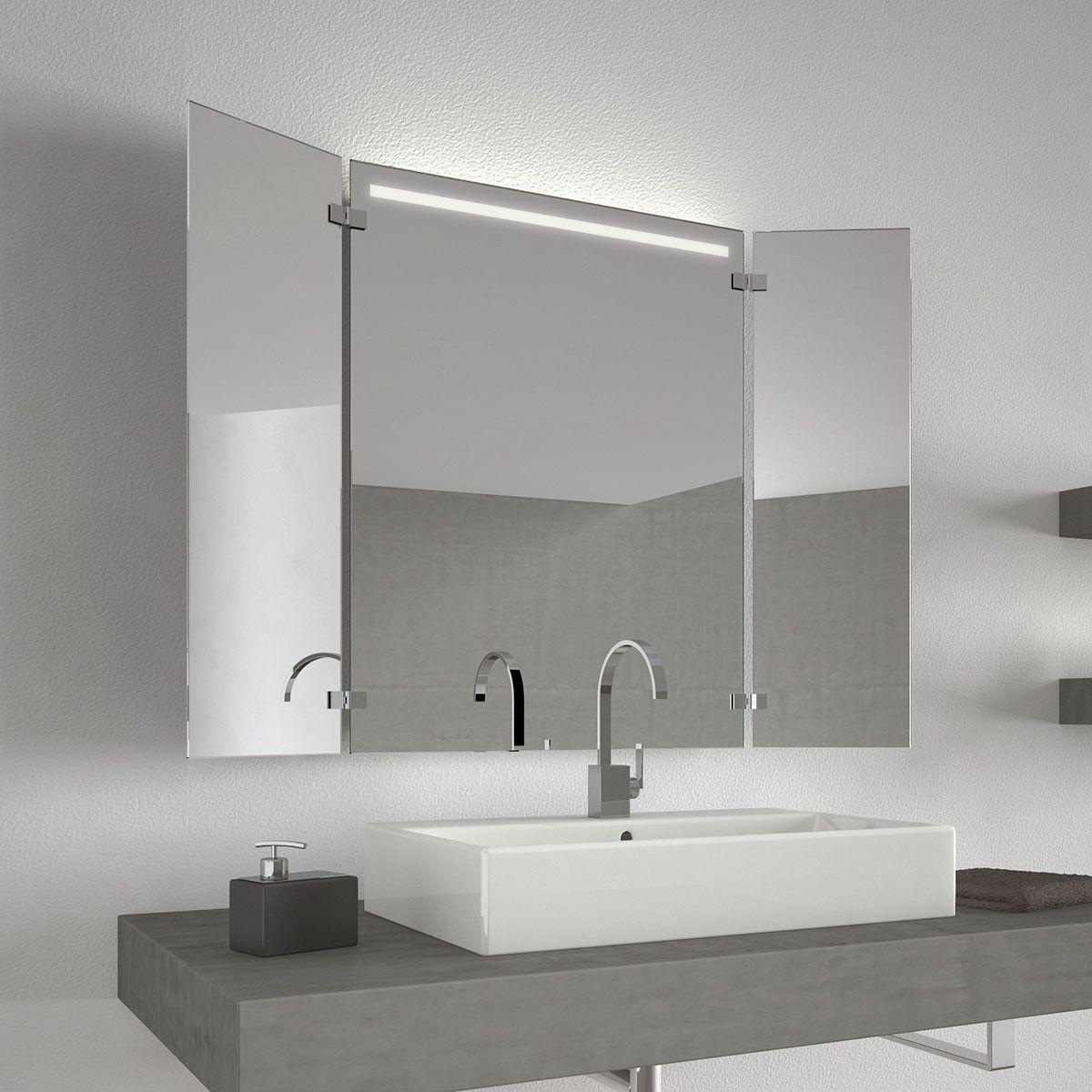 Beleuchteter Klappspiegel Haifa 300871536 Klappspiegel Badezimmerspiegel Spiegel