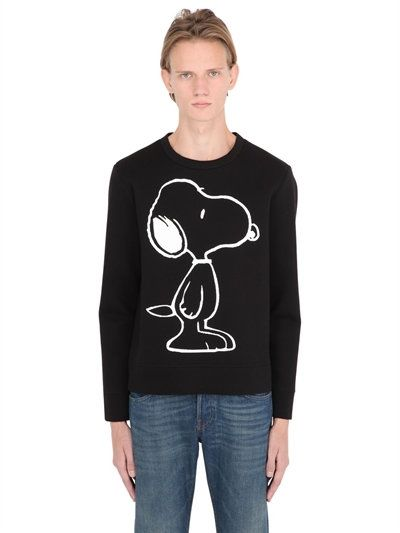 6b2f35d7183 GUCCI Snoopy Print   Tiger Patch Sweatshirt