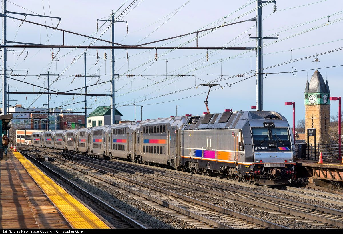 Njt 4513 Nj Transit Bombardier Alp 45dp At Elizabeth New Jersey By Christopher Gore New Jersey Jersey Photo