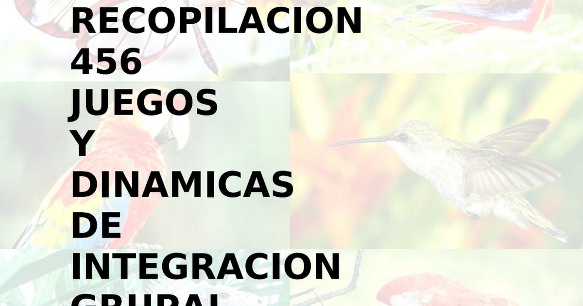 Dinamicas De Integracion Grupal Pdf Educacion Emocional