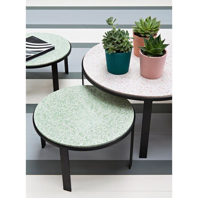 table basse en terrazzo maison sarah lavoine all about bistro pinterest terrazzo tables. Black Bedroom Furniture Sets. Home Design Ideas