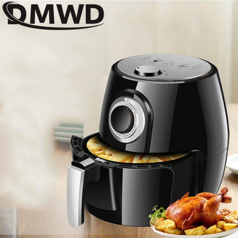 Dmwd 1350w 5l health fryer cooker smart touch lcd airfryer