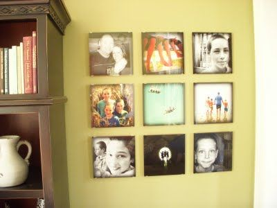 Frameless Photo wall collage | For the Home | Pinterest | Wall ...