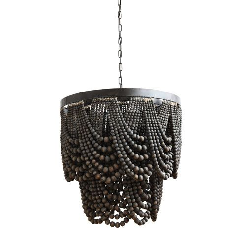 What Is A Black Chandelier Topsdecor Com In 2020 Wood Bead Chandelier Wooden Bead Chandelier Beaded Chandelier
