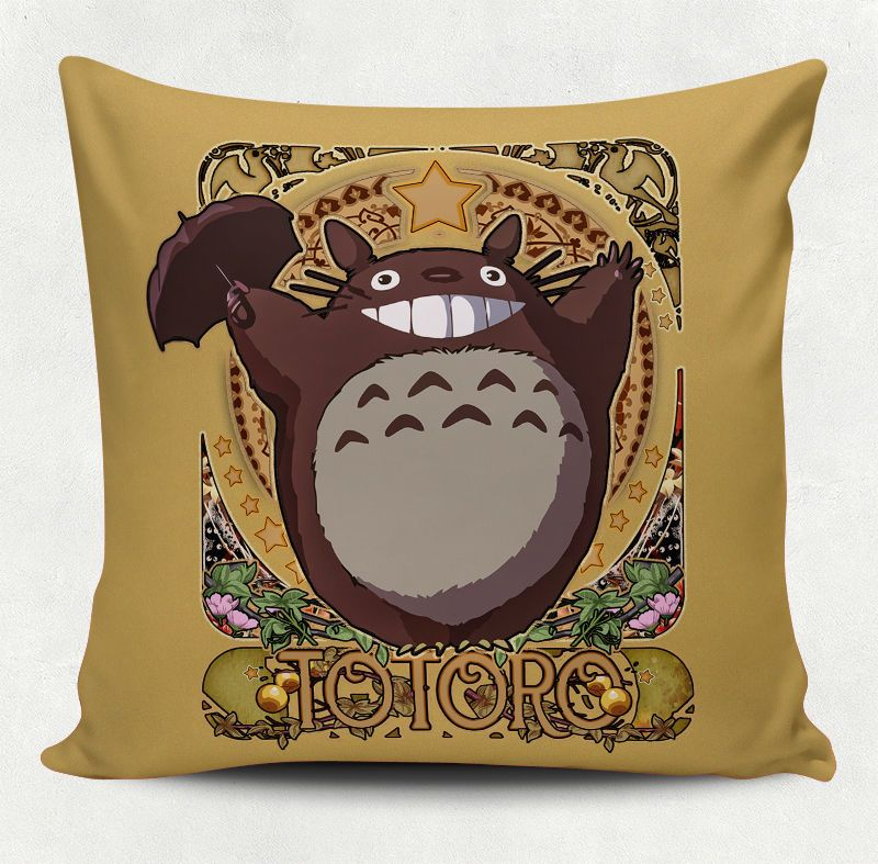Cute Pillow Case Totoro   Home Decor   Anime Studio Ghibli Miyazaki Cover  Throw $9.99