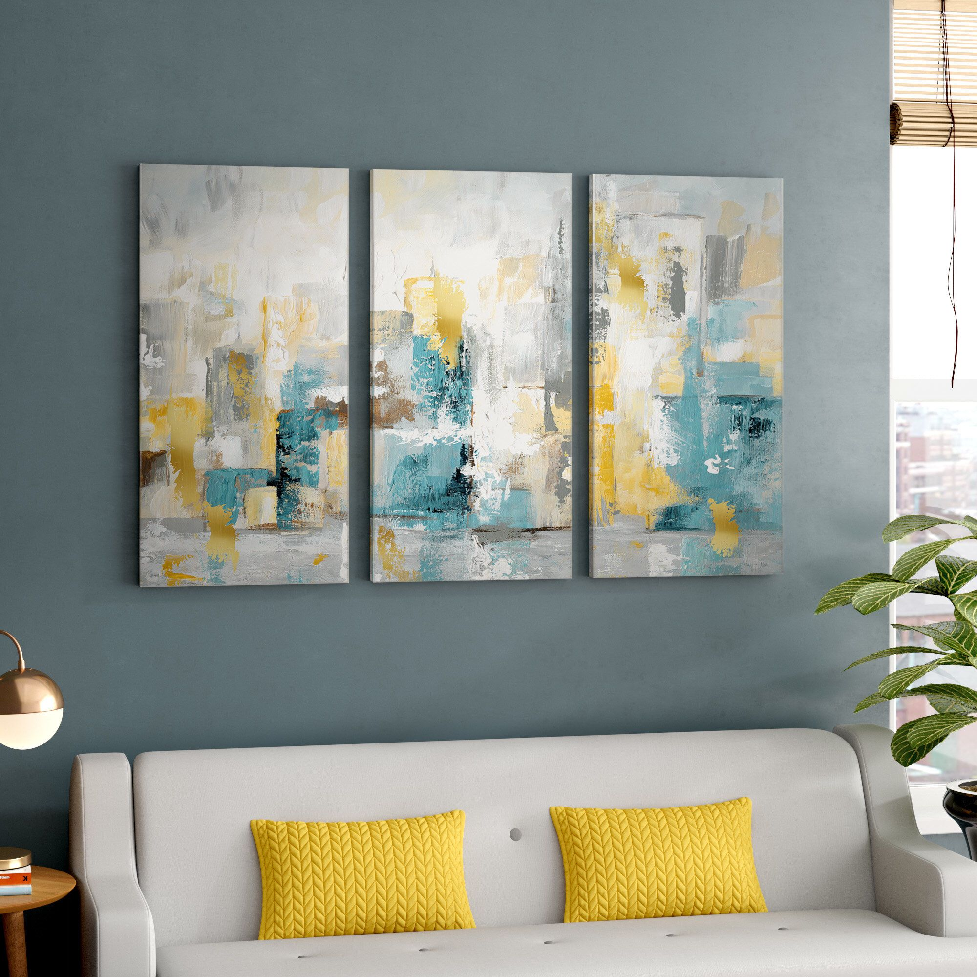 City Views I Wrapped Canvas Multi Piece Image Print Canvas Wall Art Wall Art Living Room Canvas Painting