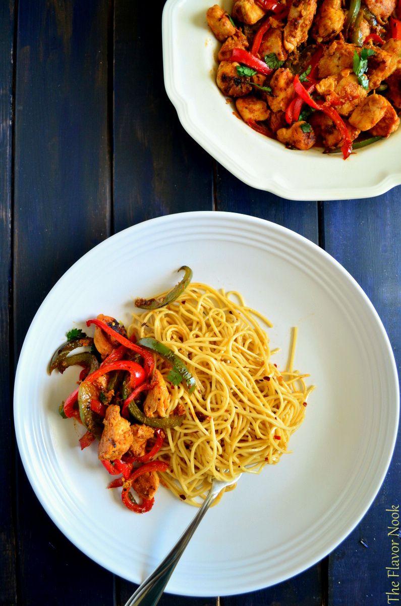 Chilli Chicken & Garlic Noodles