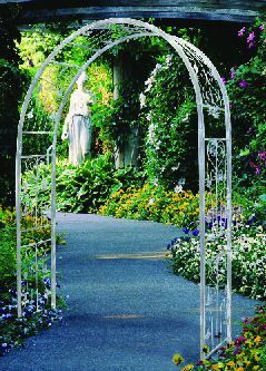 French Ivory Vintage Powder Coated Steel Garden Arbor With Images