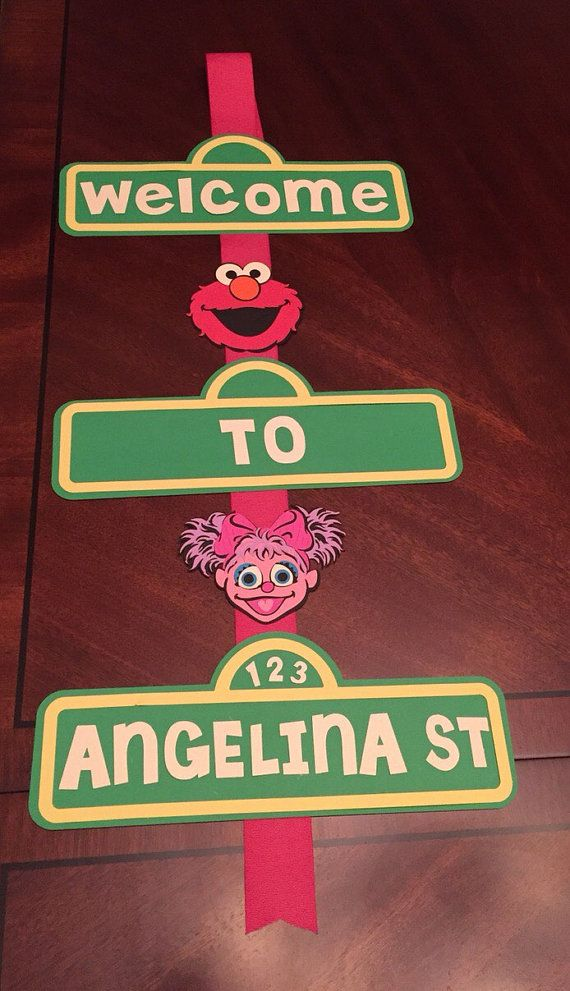 Birthday Banner for door Seasame Street Elmo and Abby & Birthday Banner for door Seasame Street Elmo and Abby | Sesame ...