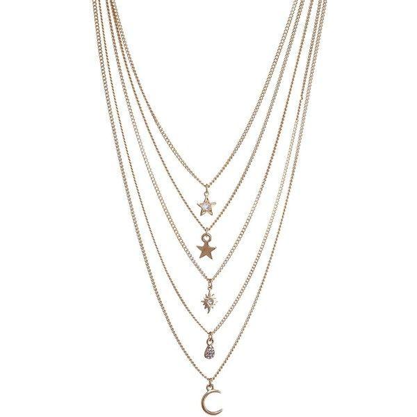 Ettika Double Layer Necklace in Metallic Gold BR1xLW16