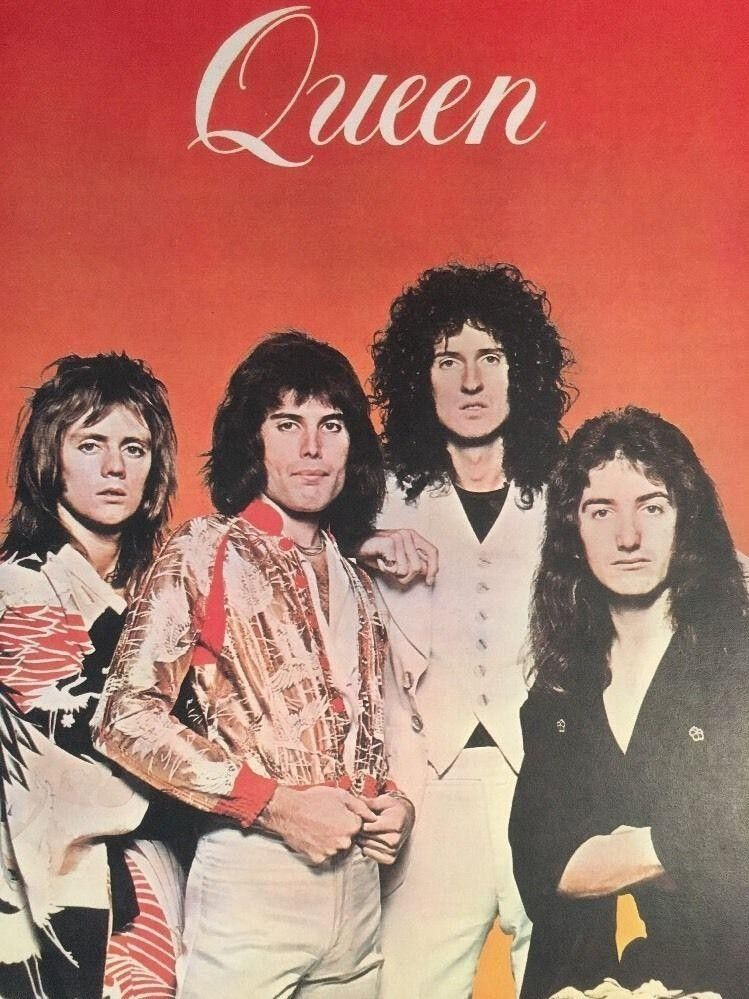 Vintage Queen Poster Pin-Up 1970's ... #vintagemusic