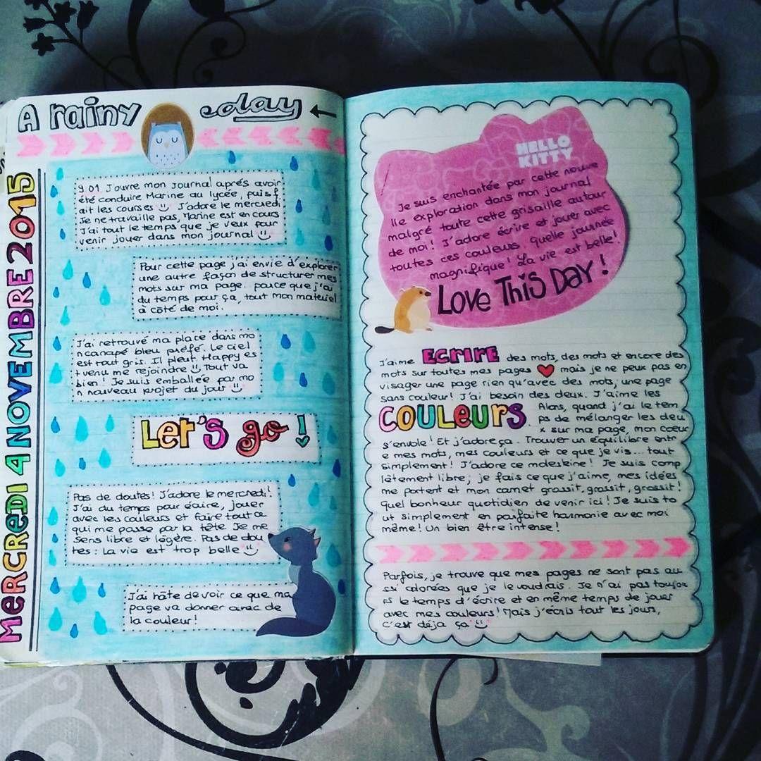 Nath Lie On Instagram Ce Matin Journal Journallove Journaladdict Journaling Artjournaling Moleskine Crea Diy Journal Creative Journal Journal Doodles