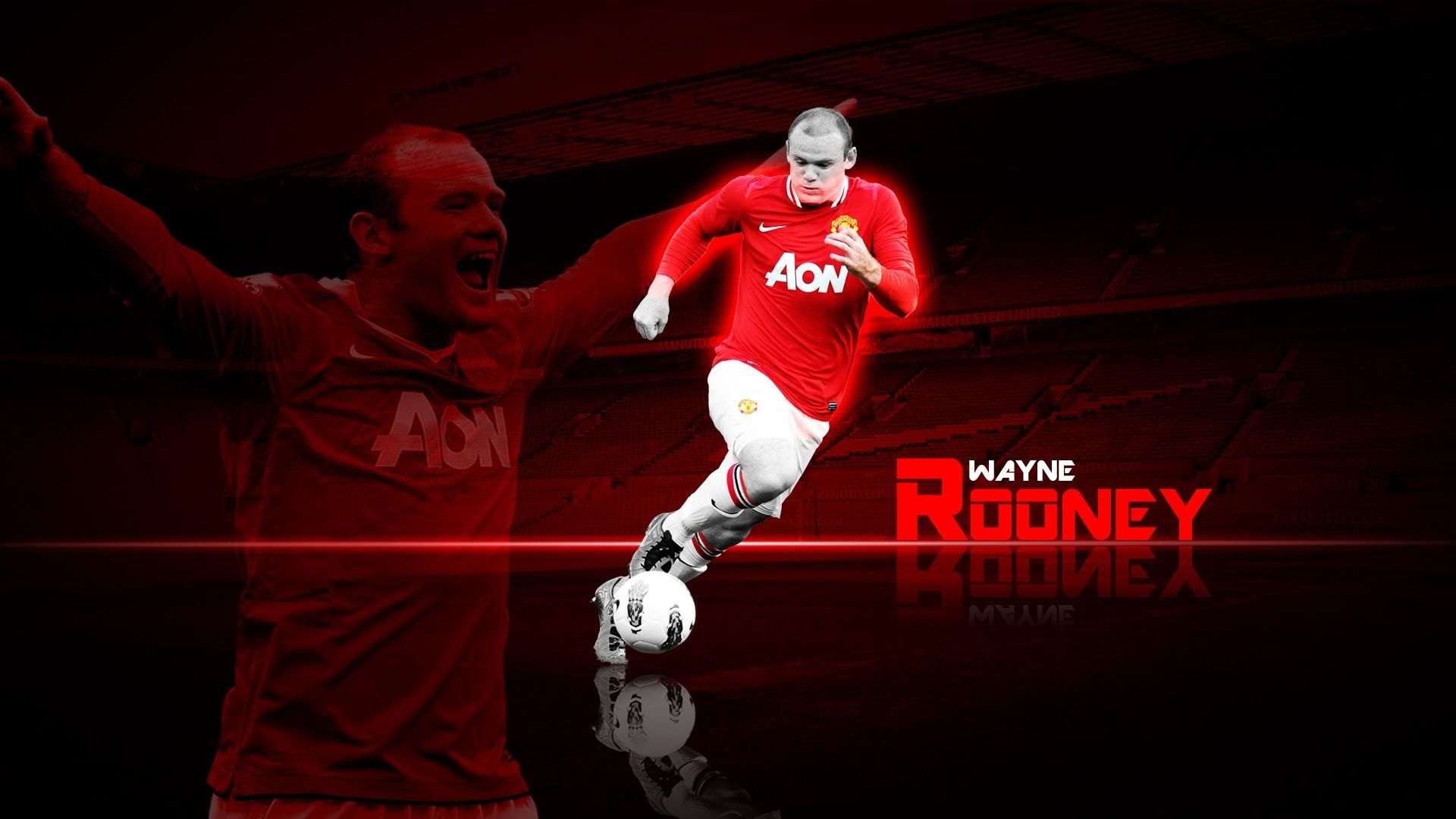 wayne rooney awesome red color photoshop tutorial photoshop