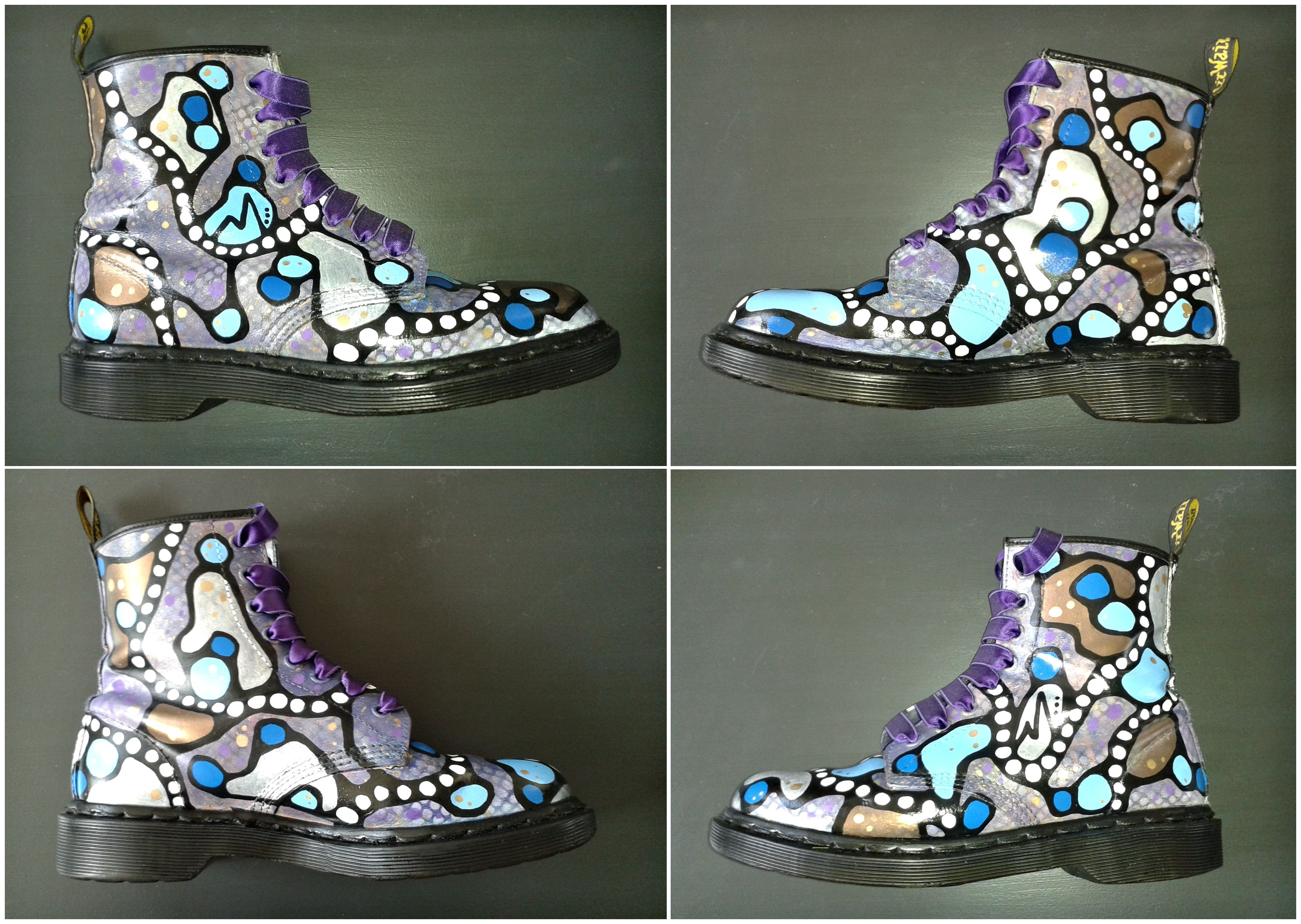 206784fc365 My latest project: Custom painted Dr. martens boots > Third pair. I ...
