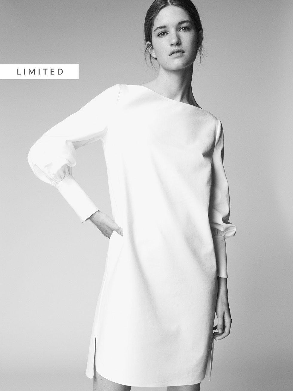 Platya I Kombinezony Zhenskaya Kollekciya Massimo Dutti Cotton Shirt Dress Dresses Shirt Dress