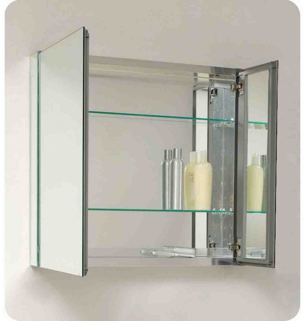 Bathroom Mirror Cabinet Mirror Cupboard Wall Cupboard Cabinet Stainless Steel DE