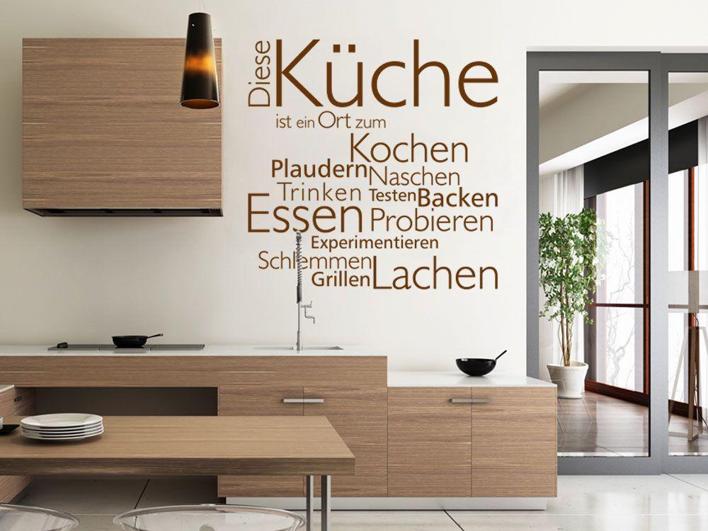 Wortwolke Diese Küche als Wandtattoo | Wandtattoos für Küche und ...