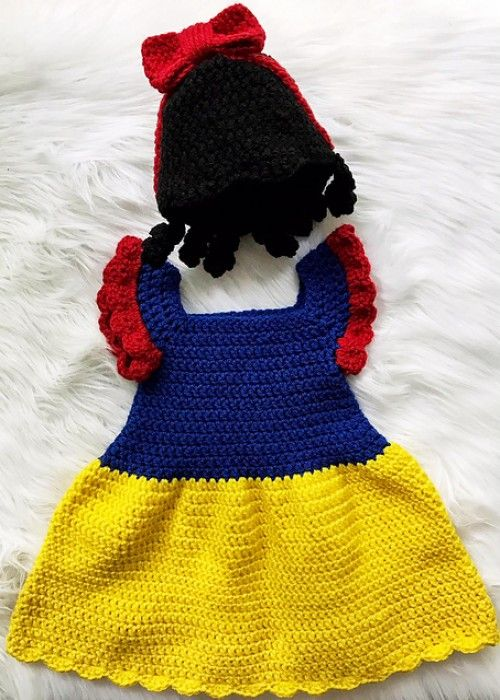 Snow White Dress Free Crochet Pattern Beautiful Skills Crochet