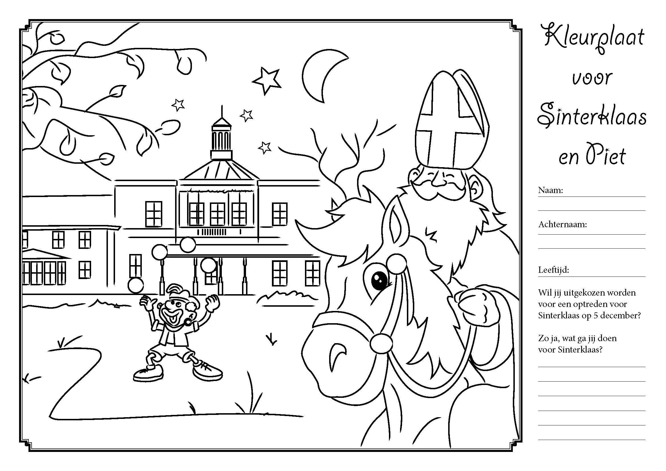 Nieuwe Kleurplaten Sinterklaas.Kleurplaat Downloaden Voor Sinterklaas Ockenburgh Idee Sinterklaas