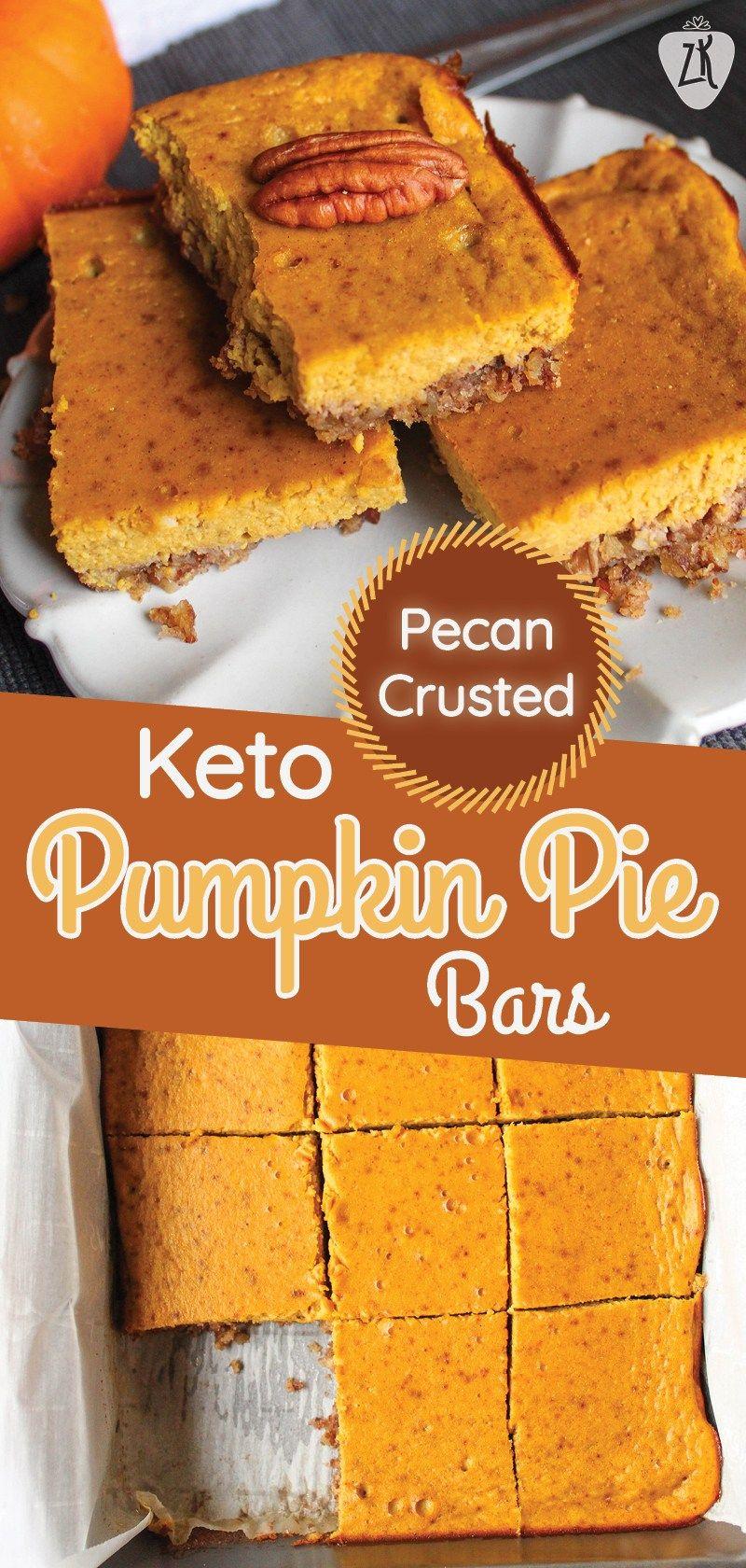 Pecan Crusted Pumpkin Pie Bars Recipe Pumpkin Pie Bars Keto