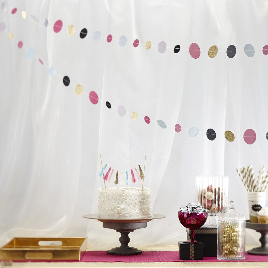 Multi Coloured Circle Paper Garland For Weddings 2m | Wedding and ...