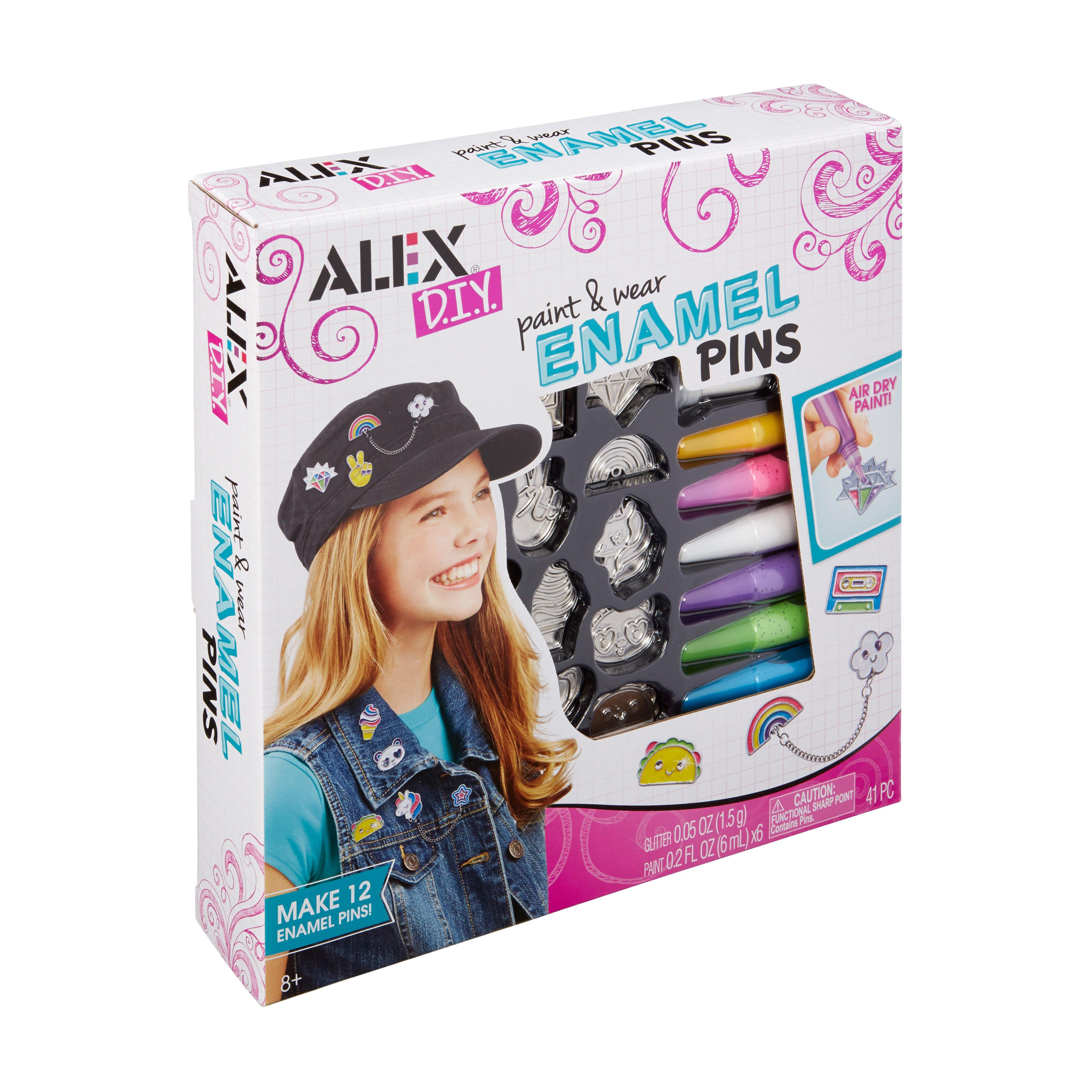 Alex toys alex diy paint wear enamel pins alex toys