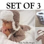 Set of 3! Fur boots, hat and sweater! - via @Craftsy