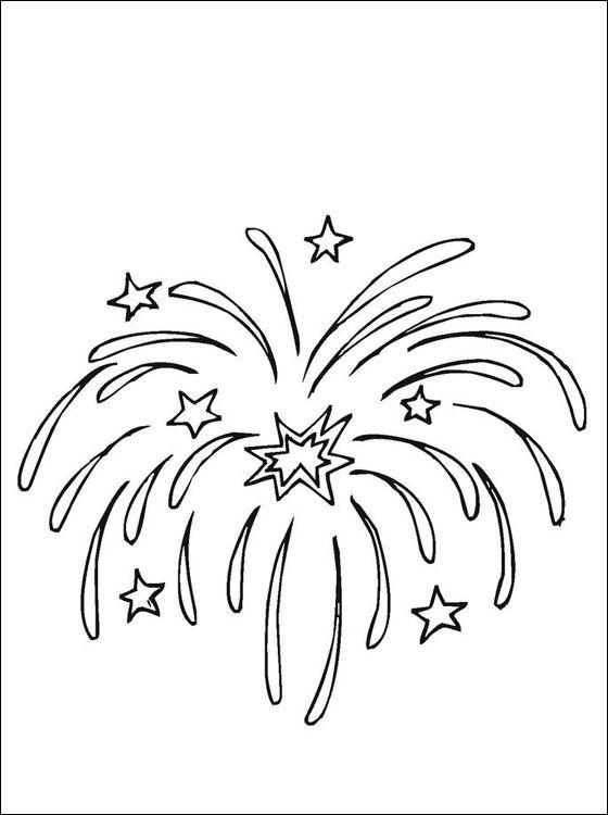 Noël Feux D Artifice Coloriage à Imprimer Gratuit Dessin